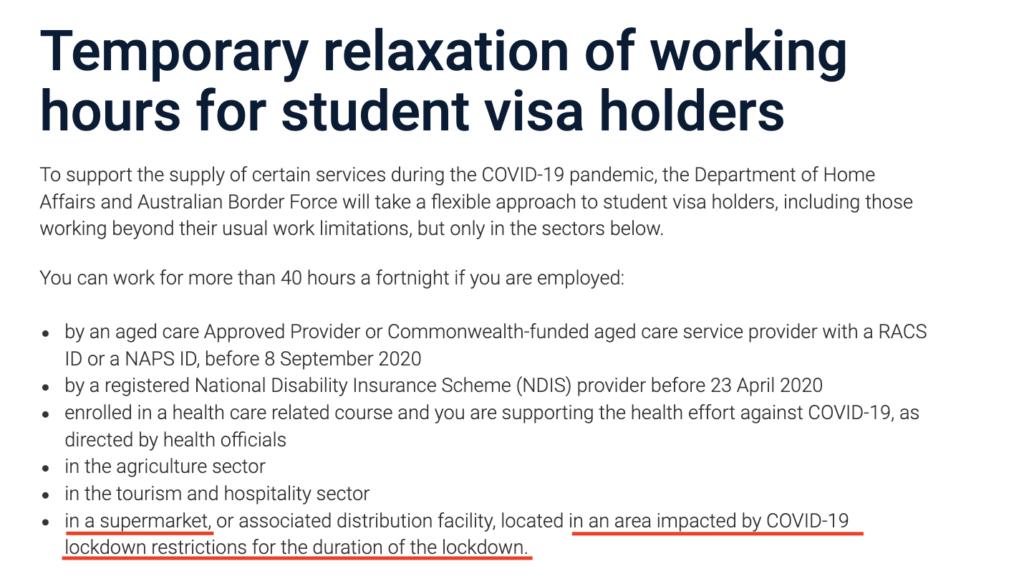 Student Visa Diritti Lavorativi
